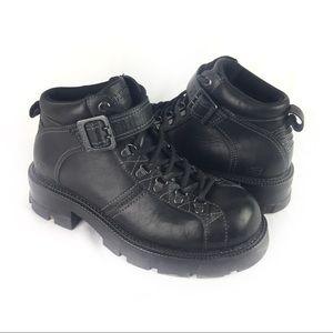 SKECHERS | Moto boots 8.5 black leather